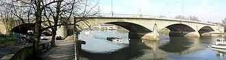 Twickenham Bridge - Twickenham Bridge – a panorama looking downstream