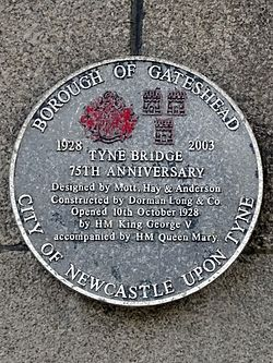 Tyne bridge 75th anniversary 1928 2003