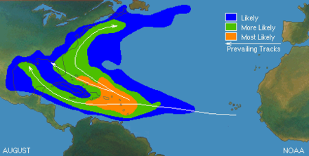 Typical locations and tracks in August Typical North Atlantic Tropical Cyclone Formation in August.png