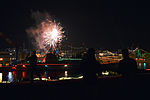 U.S. Sailors watch a New Year's Eve fireworks display from the flight deck of the aircraft carrier USS George Washington (CVN 73) in Yokosuka, Japan, Jan. 1, 2014 140101-N-BT947-340.jpg