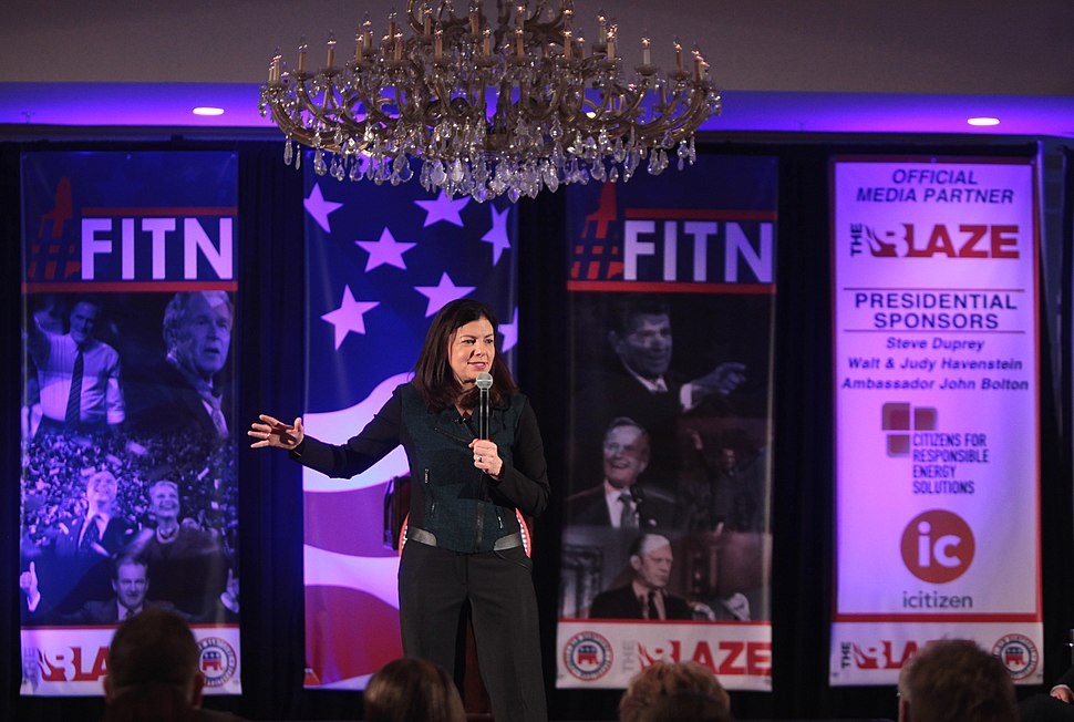 U.S. Senator Kelly Ayotte speaking at the 2016 FITN (First in the Nation) Town Hall hosted by the New Hampshire Republican Party
