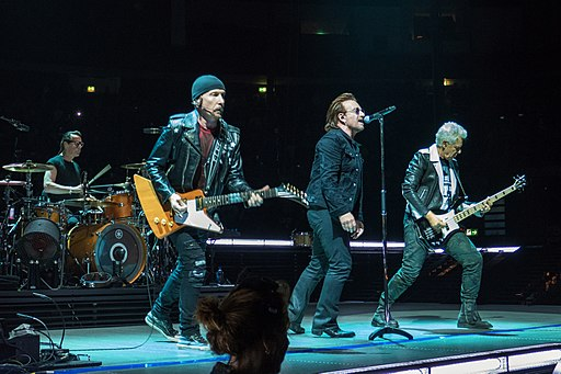 U2 on main stage Experience and Innocence Tour in Berlin 8-31-18