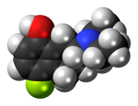 Space-filling model of the UH-301 molecule