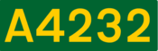 A4232 road shield