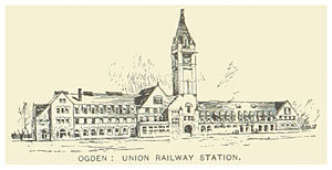 Union Station (Ogden, Utah) - 1891 illustration of the first station