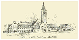 Union Station (Ogden, Utah) - 1891 illustration of the first station