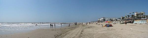 Galveston beach on the Gulf of Mexico
