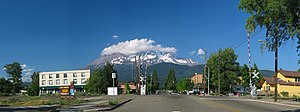 Mount Shasta, California - Downtown Mount Shasta, California with the eponymous mountain visible in the background.