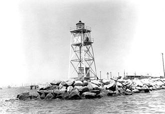 Long Beach Light - Original Light Tower by U.S. Coast Guard Archive