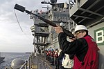 USS Bataan conducts a replenishment-at-sea with USNS Joshua Humphreys. (31555457243).jpg