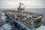 USS George Washington (CVN-73) underway in August 2015 with CVW-5 on deck.JPG