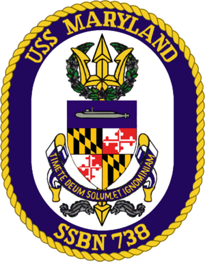 USS Maryland (SSBN-738) - Image: USS Maryland (SSBN 738) Crest