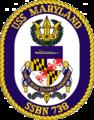 USS Maryland (SSBN-738) Crest.png