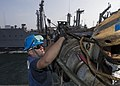 USS Mason conducts a replenishment-at-sea. (12194473163).jpg