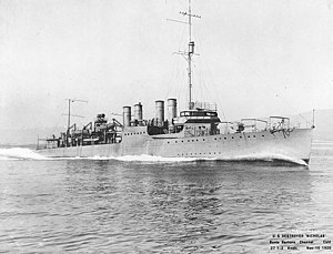 USS Nicholas running trials, 10 November 1920