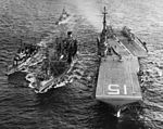 USS Pawcatuck (AO-108) fueling Randolph (CVS-15) and destroyers c1960.jpg