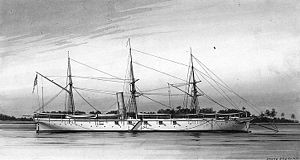 USS Pawnee, a screw sloop-of-war, which served...