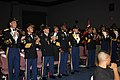 "US Army 51216 The 4th Brigade Combat Team, 1st Cavalry Division ""Long Knife"" leadership cheers after Sgt. Reshard Hicks wins the Fort Hood and III Corps boxing championship for the 154-165 weight class held at the.jpg"