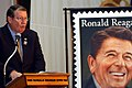 US Navy 050218-N-6908P-003 Congressman Randy Duke Cunningham (R-CA) delivers a speech during a dedication ceremony for the President Ronald Reagan postage stamp.jpg