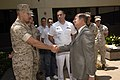 US Navy 060510-N-2568S-064 SECNAV meets with wounded Sailors and Marines at Balboa Naval Medical Center in San Diego.jpg