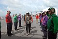US Navy 071004-N-8704K-002 Ambassador Lisa Bobbie Schreiber Hughes, U.S. ambassador to Suriname, is saluted by rainbow sideboys as she arrives for a tour of Military Sealift Command hospital ship USNS Comfort (T-AH 20), anchore.jpg