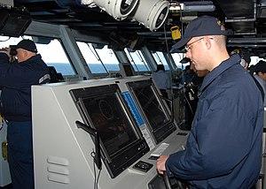 Lee helm - Sailors stand lee helm and helmsman watch.