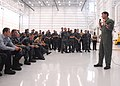 US Navy 090714-N-2491R-045 Rear Adm. William F. Moran, commander, Patrol and Reconnaissance Group, speaks to sailors assigned to Patrol Squadron (VP) 5, VP-8, VP-16, and VPU-1 stationed at Naval Air Station, Jacksonville.jpg