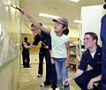 US Navy 090804-N-7280V-398 Sailors paint a classroom during a community service project.jpg