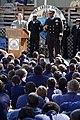 US Navy 091105-N-6736S-116 Rear Adm. Vic Guillory speaks at Holy Cross School in New Orleans.jpg