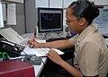 US Navy 091117-N-0659H-001 Aviation Ordnanceman 1st Class La`Toya Dudley prepares to write orders for junior Sailors.jpg