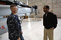 US Navy 091201-N-9818V-229 Master Chief Petty Officer of the Navy (MCPON) Rick West visits Sailors during a tour of the hangar spaces of Carrier Air Wing (CVW) 14 at Naval Air Station Lemoore.jpg