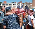 US Navy 100827-N-3090M-391 Friends and family welcome home Sailors aboard the Los Angeles-class attack submarine USS Annapolis (SSN 760).jpg