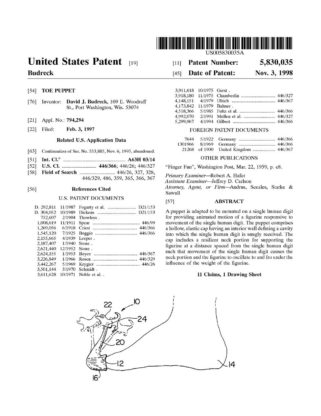 Page:US Patent 5830035 djvu/1 - Wikisource, the free online library
