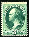 US stamp 1870 3c Washington