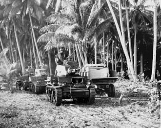 M2 light tank - An M2A4 on Guadalcanal, followed by an M3 Stuart and another M2A4