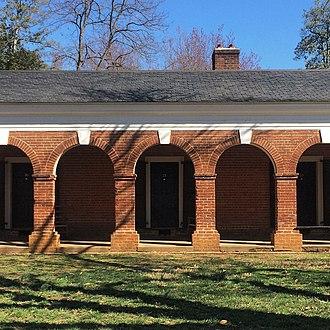 The Range -  A brick arcade on the West Range.