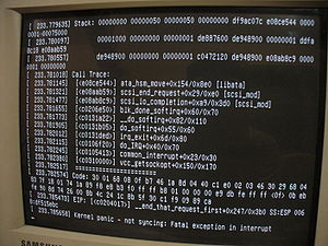 Kernel Panic on a desktop computer running Ubu...