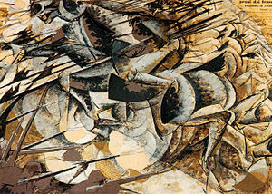 1915 in art - Image: Umberto Boccioni Charge of the Lancers