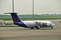 Un avro RJ100 de Brussels Airline à l'aéroport de Lyon.jpg