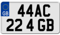 United Kingdom motorcycle license plate 44AC 22 4 GB.png
