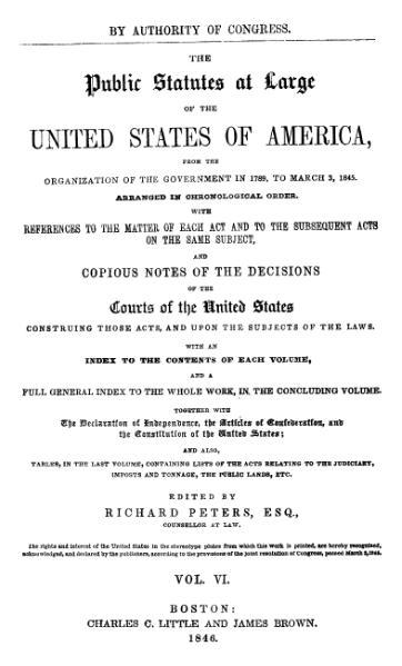 File:United States Statutes at Large Volume 6.djvu