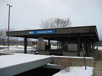 University Park station - Image: University Park Metra Station