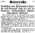 Unterricht in der Deutschen und Italienischen Sprache 1846 F. A. Rosental.png