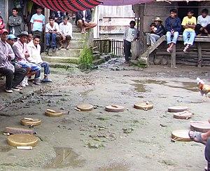 Gungsa - Gungsa waiting to be played, Upper Uma, Kalinga, 15 October 2007