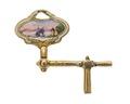 Urnyckel i guld och emalj med landskapsmotiv, 1700-tal - Hallwylska museet - 110353.tif