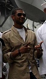 1a54bbc05 Usher aboard the USS Kearsarge in 2008