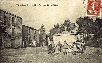 Vérargues - An old postcard view of Vérargues
