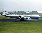 VC-137C - SAM 26000 arriving at the Museum