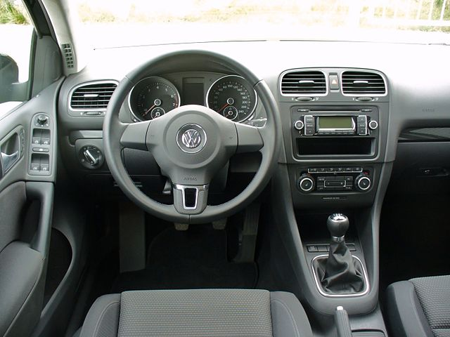 file vw golf vi 1 4 comfortline deep black interieur jpg wikimedia commons. Black Bedroom Furniture Sets. Home Design Ideas
