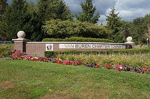 Van Buren Charter Township, Michigan - Image: Van Buren Charter Township Sign